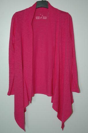 Tchibo malinowa narzutka sweterek bluza długi rękaw r.122-128
