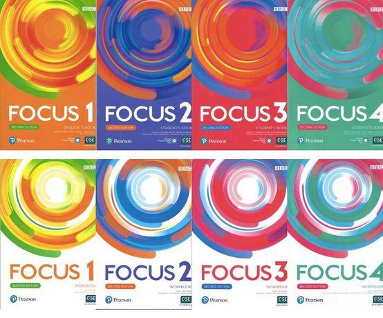 Pearson Focus 1, 2, 3,4 2nd edition SB+WB+WORDSTORE та АУДІО