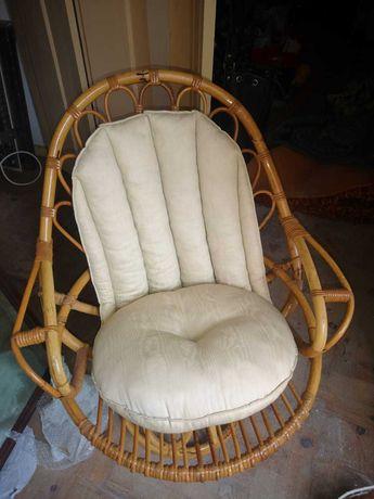 Cadeira Bambu rotativa