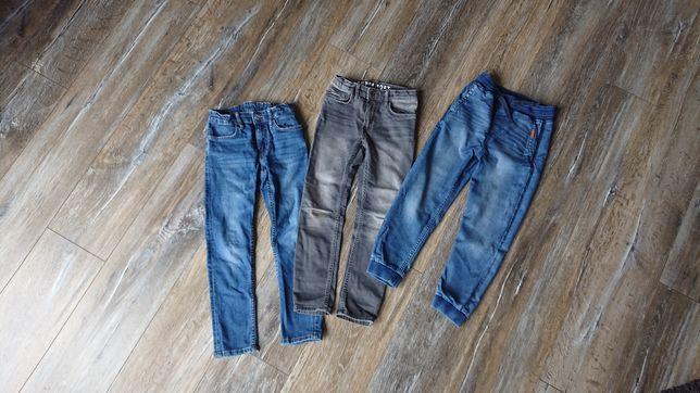 Jeansy joggersy H&M rozm 122 dla chłopca, 3 pary Super Soft