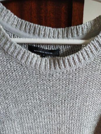 Camisola marca ONLY prateada com brilho