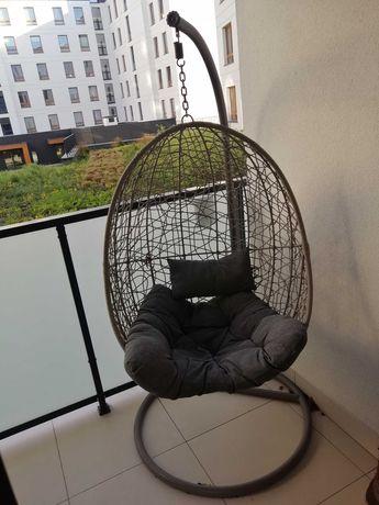 Fotel kokon stalowy