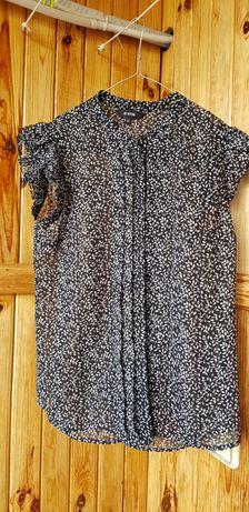 Лёгкая блузка тёмно - синяя без рукавов O'stin