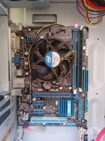 Материнка Asus P8B75-M LX Plus + ЦП Pentium G2020  + Goodram 2 ГБ DDR3