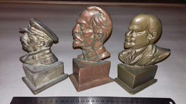 Бронзовые статуэтки Ленин,Сталин,Дзержинский