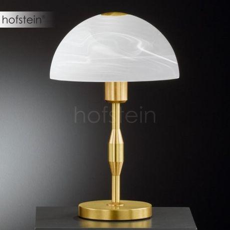 Elegancka złota lampka nocna biurkowa ARENA HONSEL 57931