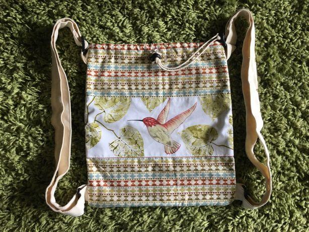 Plecak worek z Kostaryki, handmade