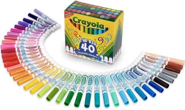 Фломастеры Crayola смываемые (моющиеся) 40 шт.