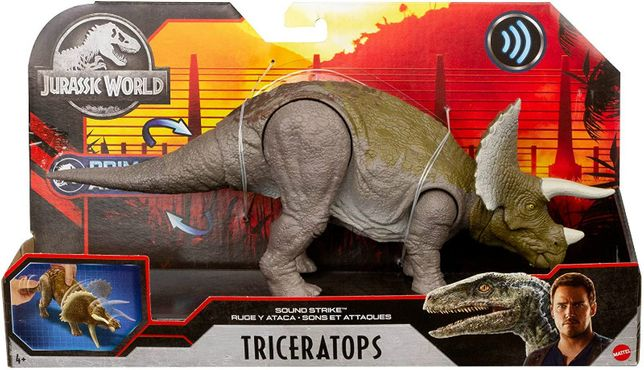 Jurassic World triceratops динозавр трицератопс dino rivals dual attac