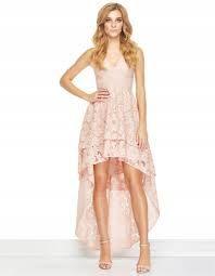 Sukienka asymetryczna koronkowa pudrowy róź na wesele