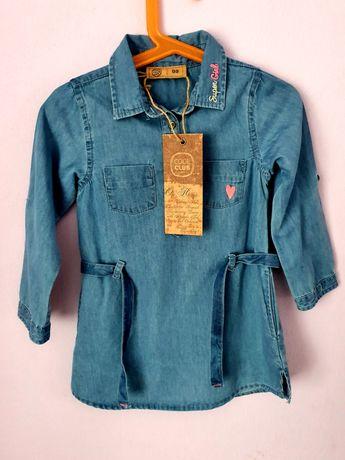 Nowa sukienka tunika jeansowa Cool Club Smyk 98