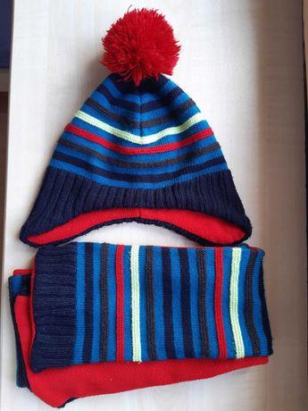 Zestaw czapka i szalik. C&A. Śliczne kolory. Dla chłopca, dziewczynki.