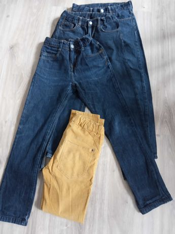 Dżinsy Zara 140, H&M 146 (5 par spodni)