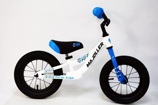 """Majdller First Bike 12"""" Biało / Niebiesko / Czarny 2020"""
