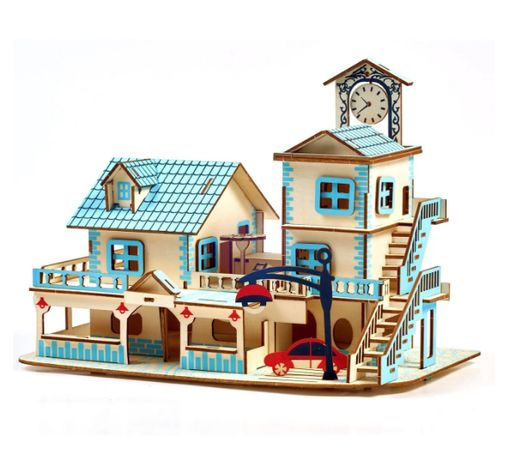 Деревянные 3D пазлы . Трехмерный конструктор-головоломка 32см