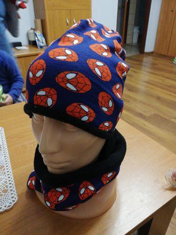 Komplet czapka komin Spiderman 46/48 gratis wysyłka