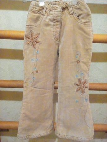 Теплі зимові штани на дівчинку 3 - 4 роки