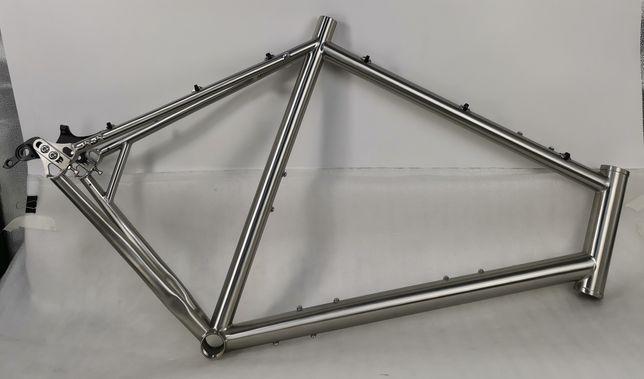 Титановая гравийная рама (гревел, туринг, гравийный велосипед, титан)