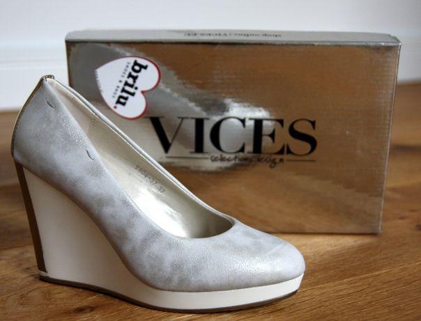 Nowe, bardzo efektowne buty VICES (biały, srebrny, złoty)
