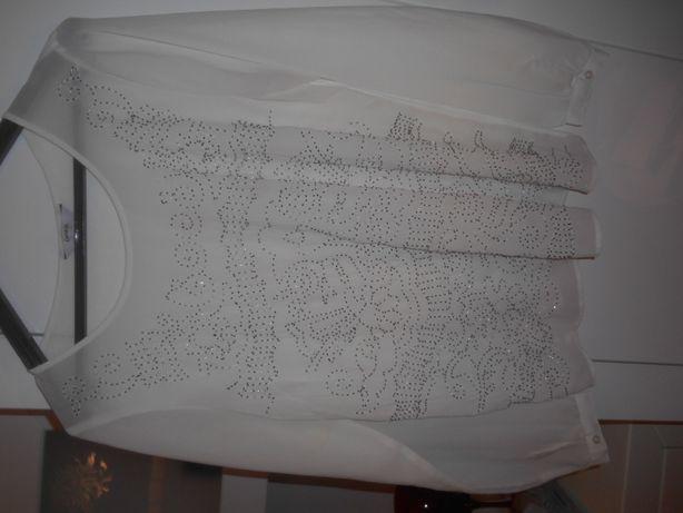 cudna biała bluzka z żorżety firma George roz L