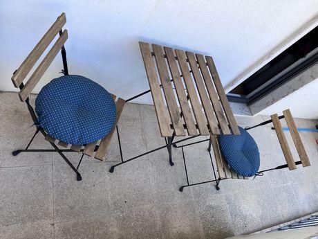 Conjunto mesa + cadeiras de jardim