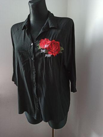 Czarna Koszula / Naszywka / S