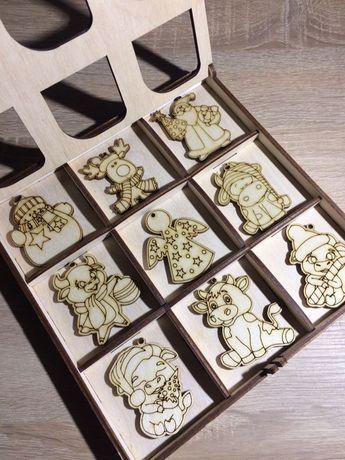 Новогодний набор для творчества/ ёлочные игрушки из фанеры
