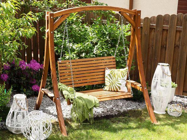 Baloiço de jardim em madeira de lárice NOVARA - Beliani