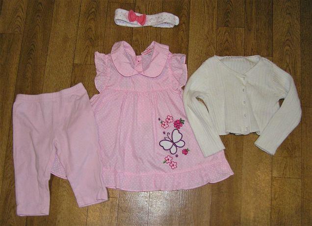 Комплект летней одежды для девочки 3-6 меc.