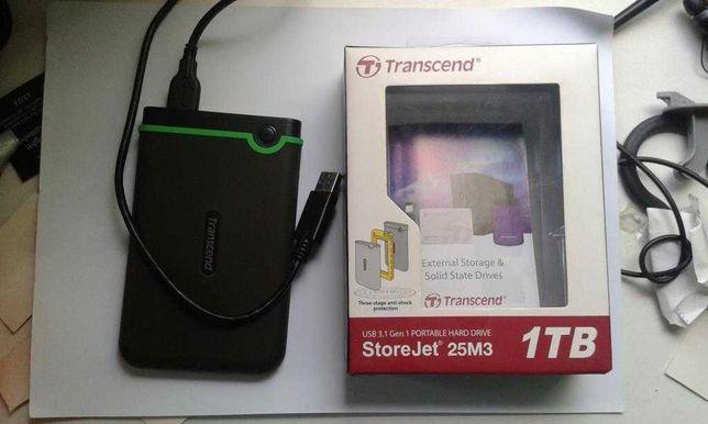 """Жесткий диск Transcend StoreJet 25M3S 1TB TS1TSJ25M3S 2.5"""" USB 3.1"""