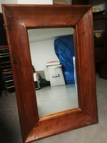 Espelho c/ moldura em madeira