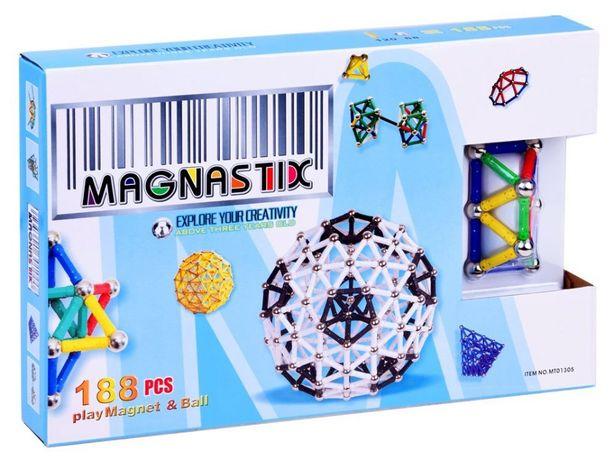 Edukacyjne Klocki Magnetyczne MAGNASTIX 188 el ZKL0003