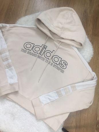 Оригінальне вкорочене худі Adidas