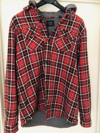 Camisa flanela GLOBE forrada com capuz tamanho 14 / S - Unisexo