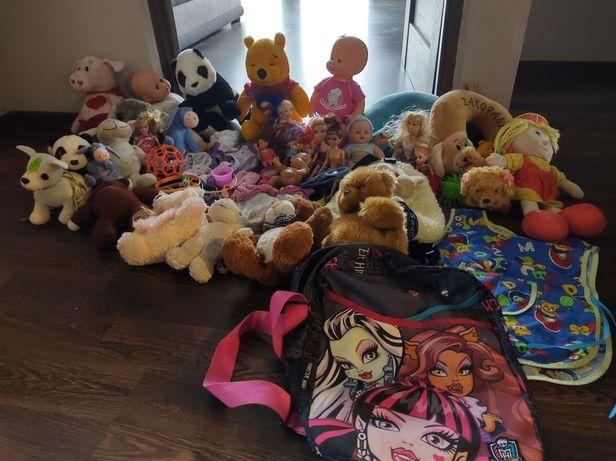 Różności dla dziewczynki, zabawki,opaski pluszaki,plecaczki nenuco