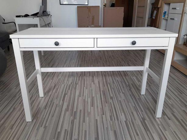 Biurko białe z 2 szufladami - 120x47 cm - HEMNES - IKEA