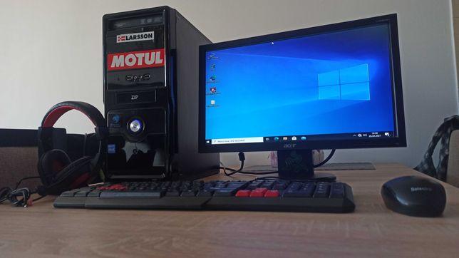Komputer AMD 4-core / 8gb / SSD + HDD / GTX 750 Ti 2gb + MONITOR  itp