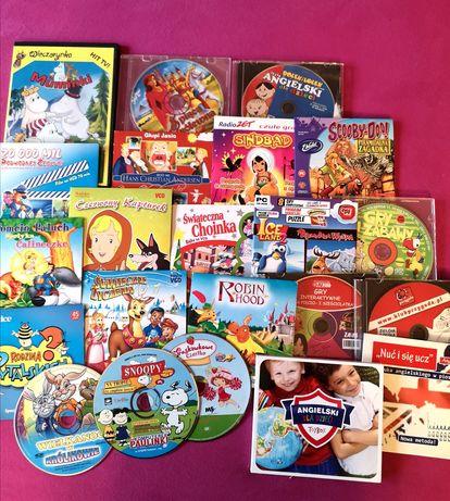 Bajk VCD, gry, angielski dla dzieci Kapturek, Robin Hood, Scooby Doo