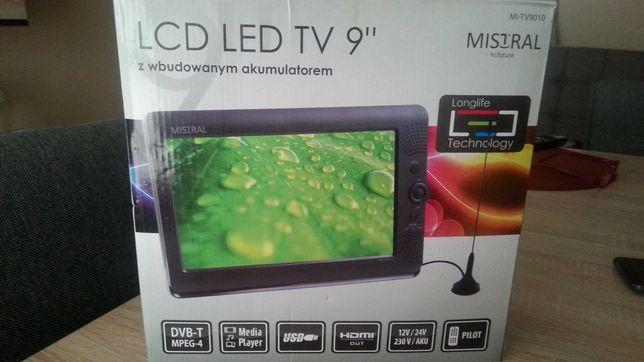 "Telewizor 12/24V  akumulator - 230V LCD LED TV 9"" MISTRAL"