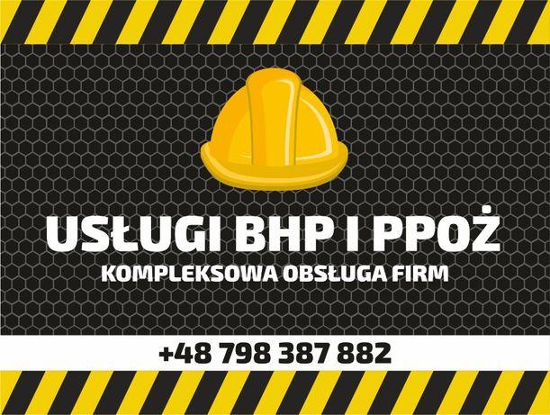 Usługi BHP i PPOŻ szkolenia, doradztwo i nadzór. 24/h. FV VAT