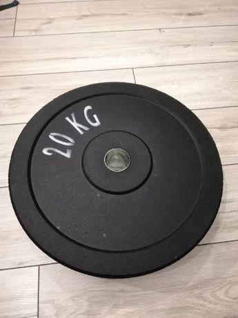 Obciążenie olimpijskie bumper krążek 5kg 10kg 15kg 20kg otwór 51mm
