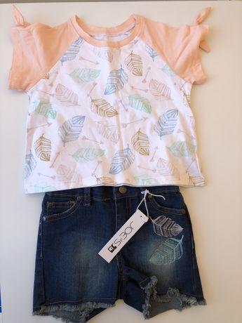 Летний набор, футболка и джинсовые шорты