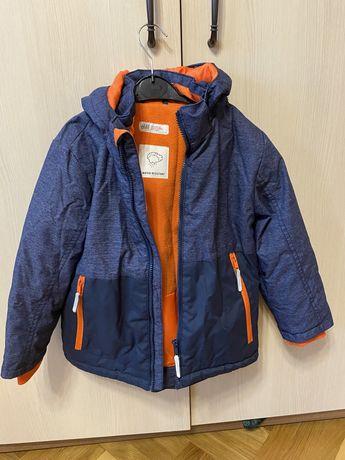 Зимняя куртка и шапка H&M, размер 5-6 лет (116 см)