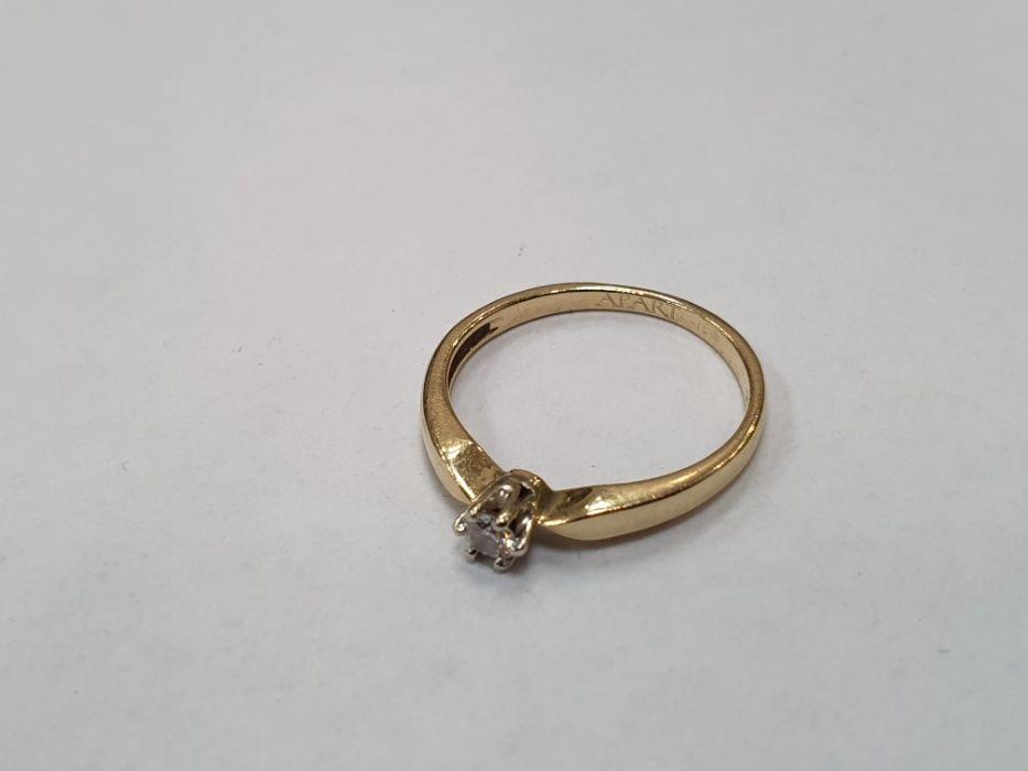 Apart! Piękny złoty pierścionek/ 585/ 0.05 CT/ 1.48 gram/ R7/ Gdynia Gdynia - image 1