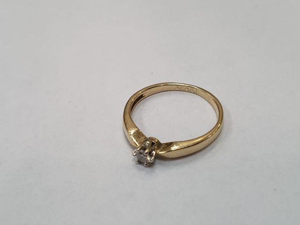 Apart! Piękny złoty pierścionek/ 585/ 0.05 CT/ 1.48 gram/ R7/ Gdynia