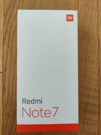 Redmi Note7 4/64 Space Black. Nowy w zaplombowanym opakowaniu.