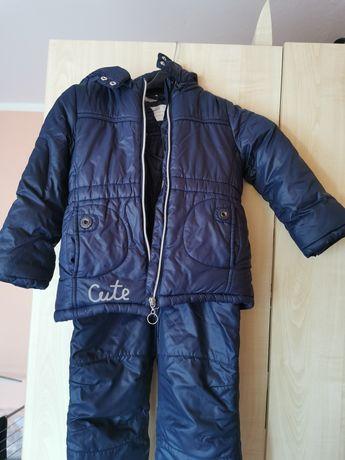 Kurtka i spodnie ocieplane Coccodrillo roz 98