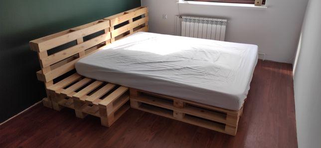 Łóżko z palet 160x200