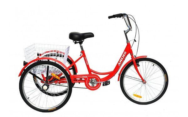 Грузовой Велосипед ARDIS CITY LINE 24 дюйм красный ТРЕХКОЛЕСНЫЙ велоси