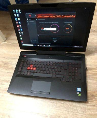 Игровой Ноутбук HP omen 17 экран 4К Intel i7-8750 GeForce GTX 1070